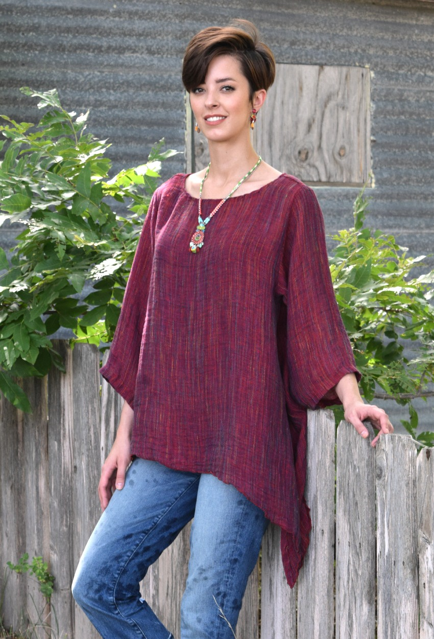 Colorful Mesh Tie Tunic