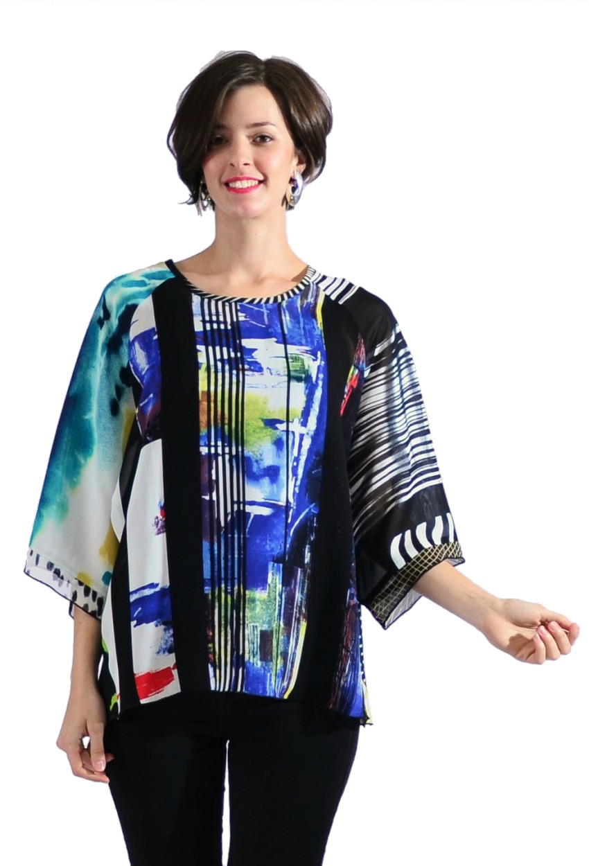 Geometric Mixed Turnaround Top