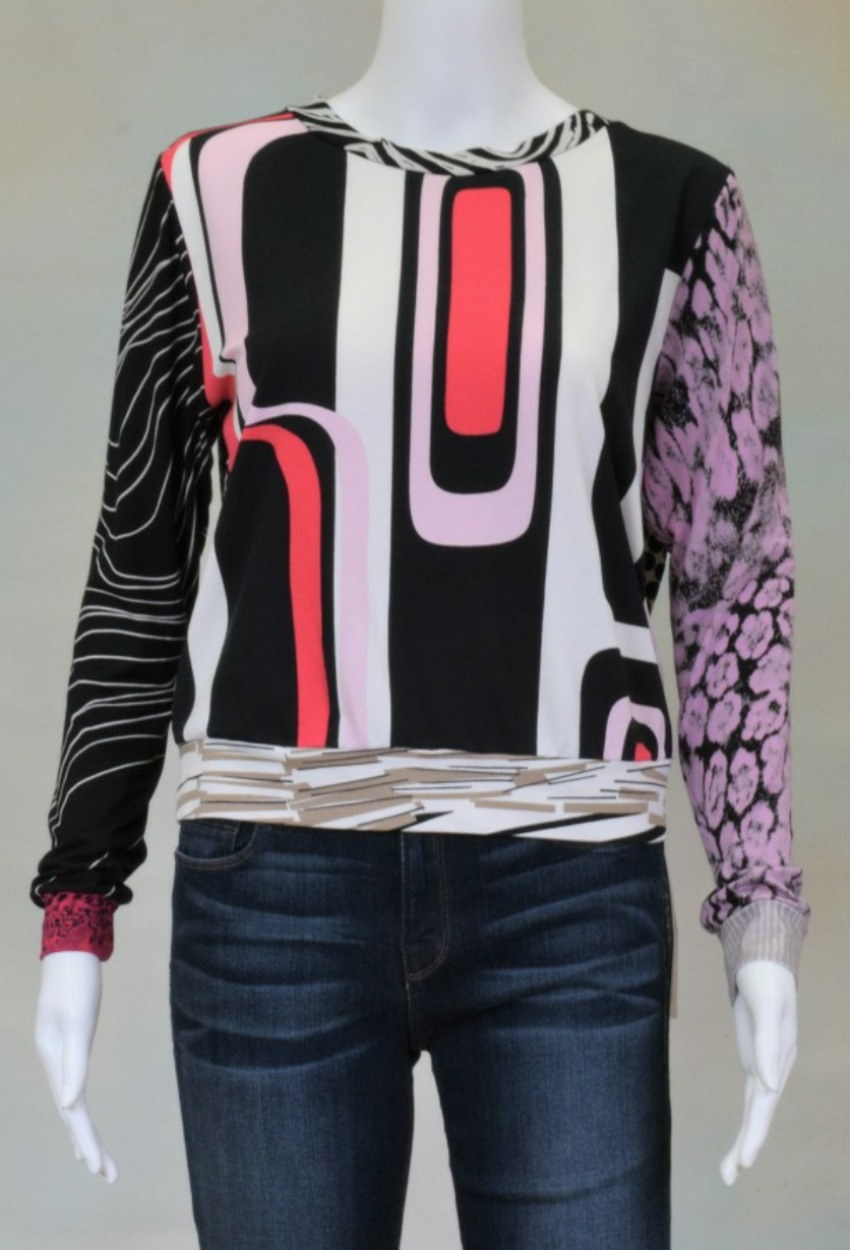 One of a Kind Fun Banded Jersey Pullover XSmall 003