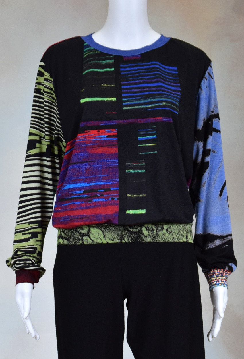 One of a Kind Fun Banded Jersey Pullover Large 710