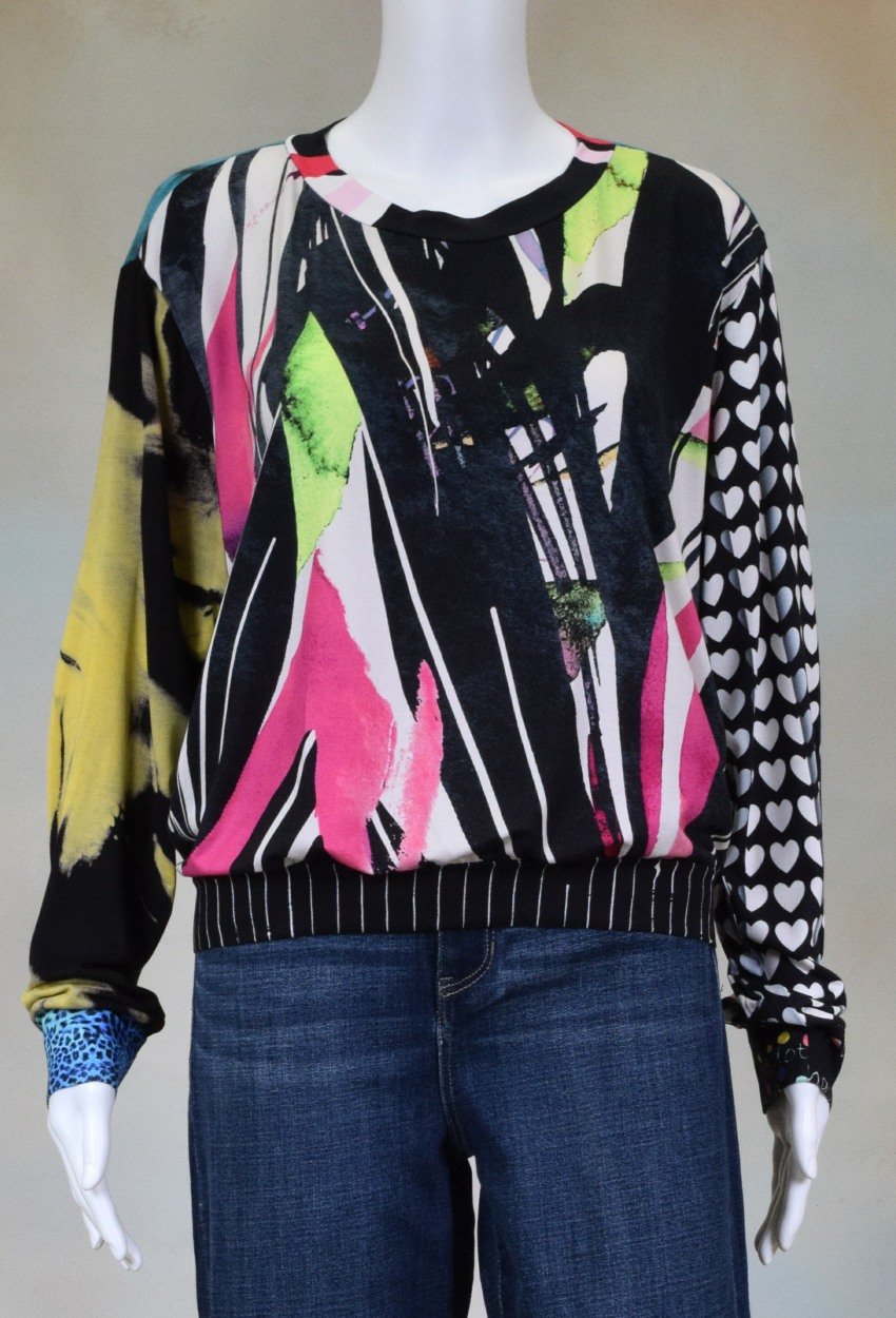 One of a Kind Fun Banded Jersey Pullover XLarge 901