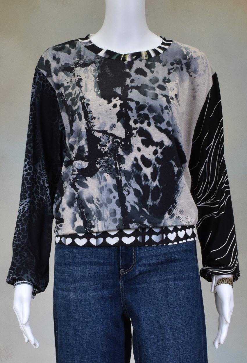 One of a Kind Fun Banded Jersey Pullover XLarge 903