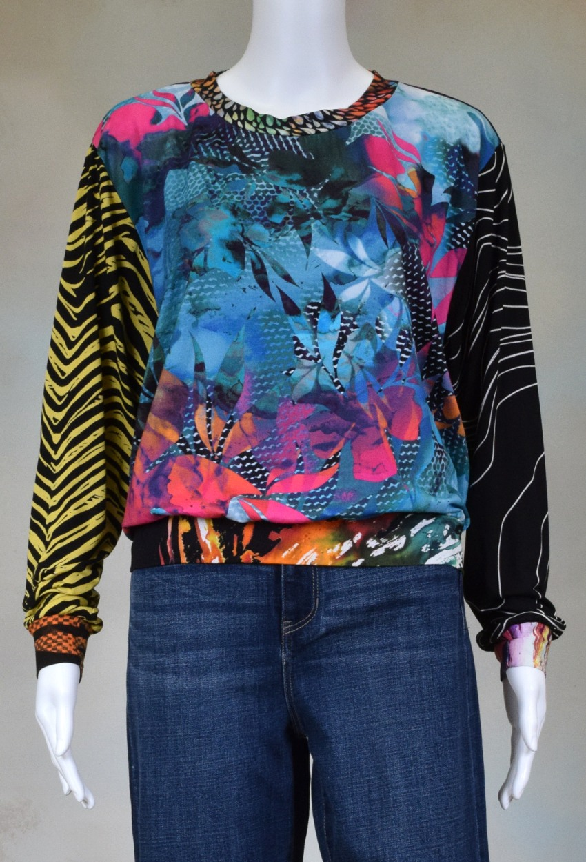 One of a Kind Fun Banded Jersey Pullover XLarge 904