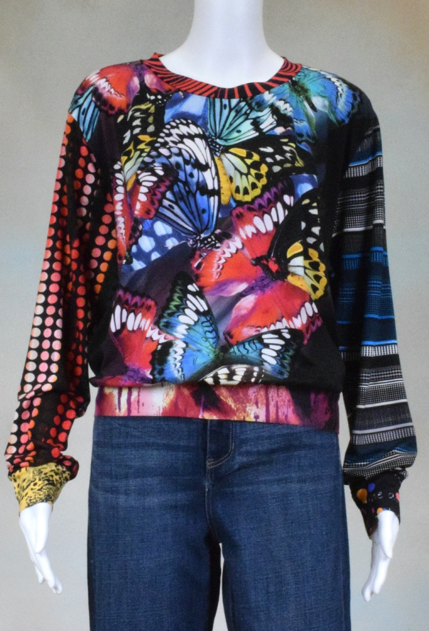 One of a Kind Fun Banded Jersey Pullover XLarge 906