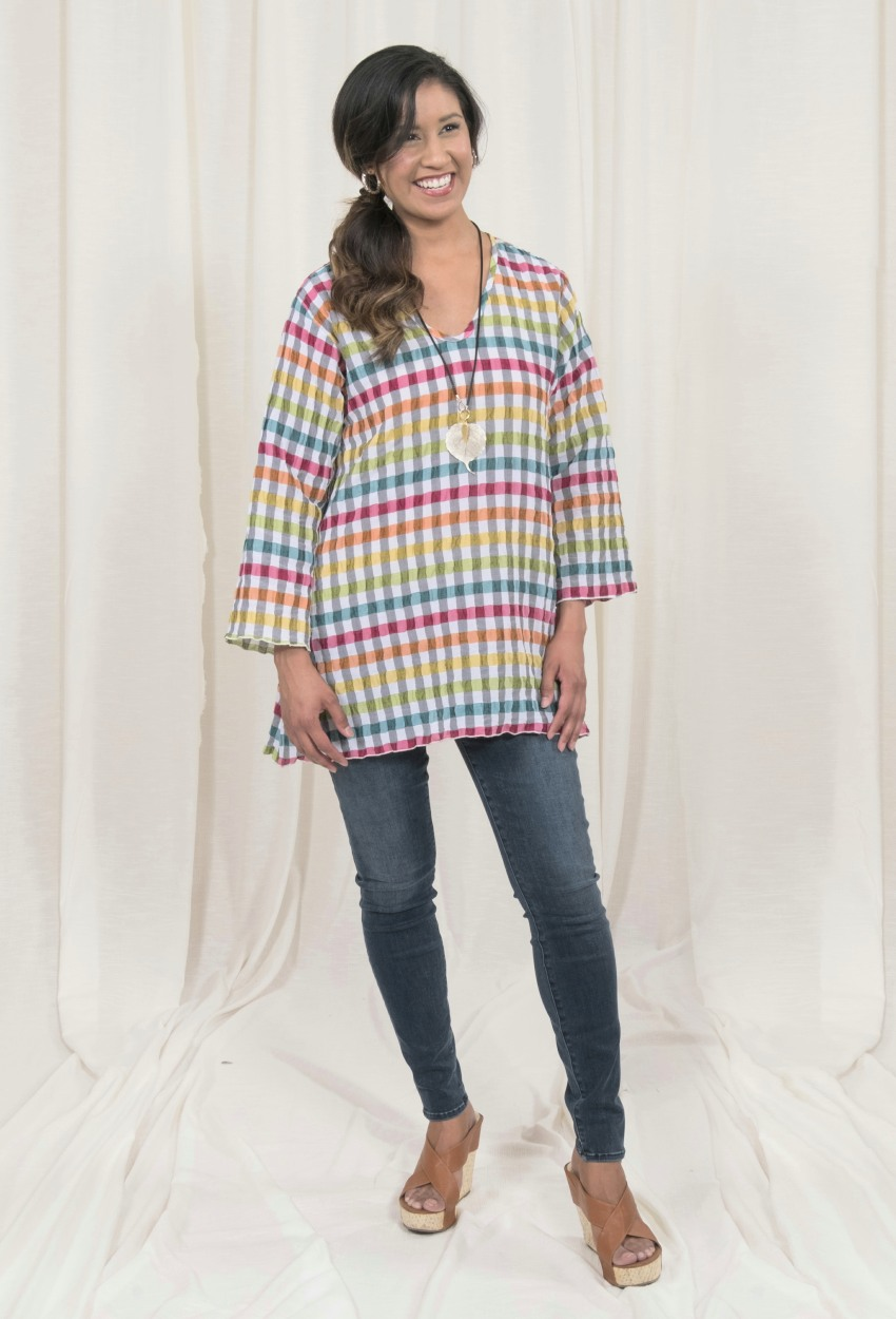 Colorful Check Pullover