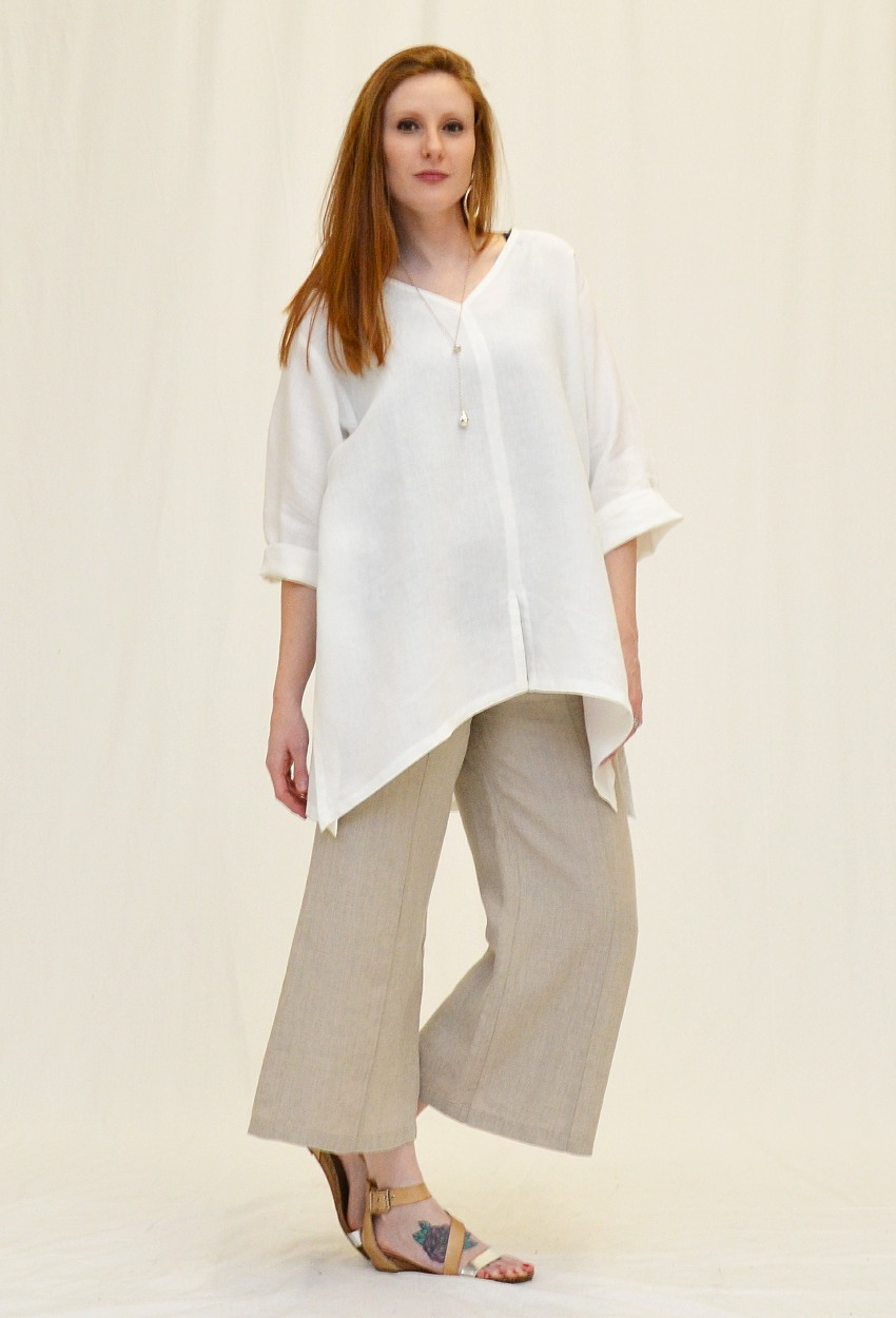 Linen Oversized Seamed Tunic