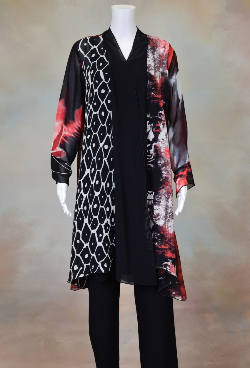 One of a Kind Long Jacket 301 Size 2