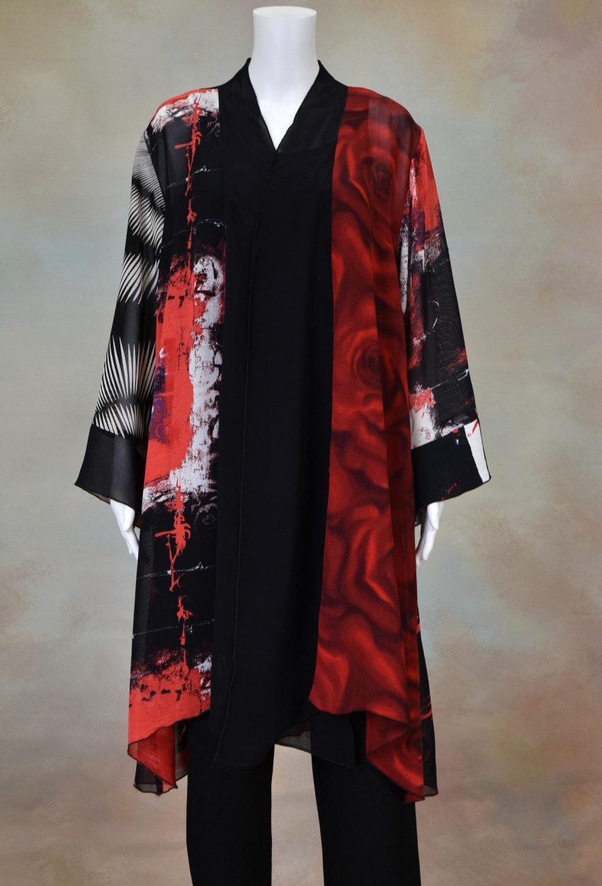 One of a Kind Long Jacket 601 Size 3