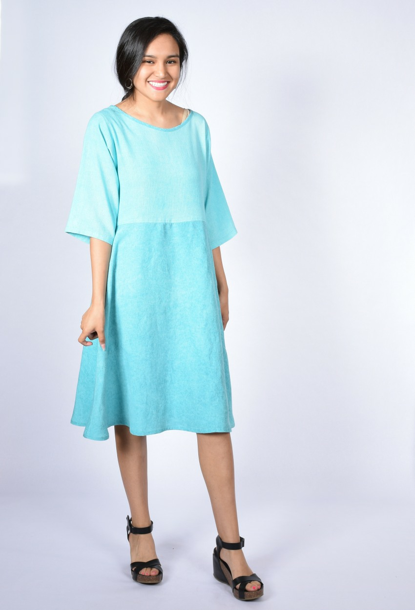 Mixed Italian Seamed Dress